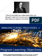 Manufacturing Processes - i Lecture 1