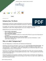 Infogineering the Basics