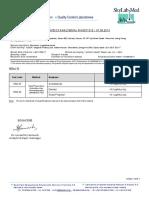 Strawberry Diacetyl Certificate
