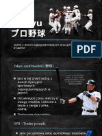 Baseball in Japan - polish presentation