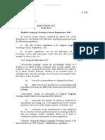 ELT Council Regulations