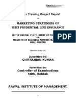 MARKETING STRATEGIES OF ICICI PRUDENTIAL LIFE INSURANCE OF COLLEGE...doc