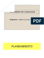 Planeamiento de La EDUCACION