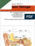 Anatomi dan gangguan pendengaran sejak lahir.ppt