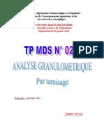 249520474 Tp Analyse Granulometrique Par Tamisage Doc