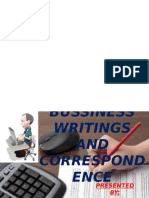 Bussiness Writings and Correspondence