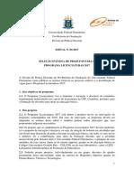 Edital Programa Licenciaturas 2017