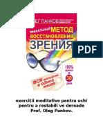exerciții meditative pentru ochi