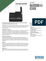 TM P20 Mobile Receipt Printer Datasheet