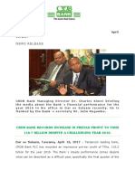 CRDB Bank PLC - Press Release 2