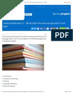 Lexical Approach 2