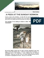 Rev. Bill Kren's Newsletter - April 16, 2017
