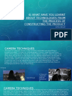 What have you learnt about technologies from the process of constructing the product