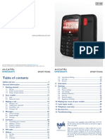 Alcatel One Touch 2000 User Manual