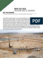 Article Travaux - Mai 2011 - Renforcement de Sol Sous Réservoirs GNL 3Z à Arzew