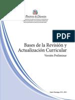 Bases Revisión Curricular 2013
