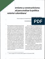Posmodernismo y Constructivismo en Rrii