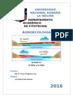 Agroecologia El Niño y La Niña