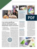 Las artes gráficas saltan del papel para imprimir más sectores