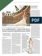 Los <<millennials>>, el porvenir de la moda nupcial española hasta 2030