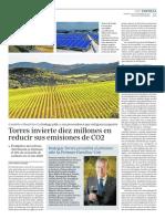 Torres invierte diez millones en reducir emisiones de CO2