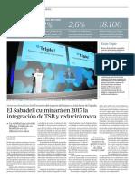 El Sabadell culminará en 2017 la integración de TSB