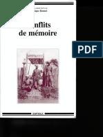 Conflits de Mémoirepertinence d Une Métaphore