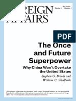 Why China Wont Overtake the U.S.