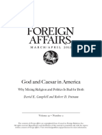 God and Caesar in America