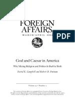 God and Caesar in America
