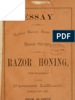 (1895) Essay on Barbers' Razors, Razor Hones, Razor Stropes & Razor Honing