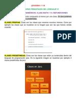 Lección 9 y 10 (Clases Propias, Clases Predefinidas, API Java, Constantes de Clase, Clase Predefinida Math, Raíz Cuadrada, Redondeo, Potenciación, Refundiciones).pdf