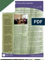 Newsletter 6 Buyer Questions