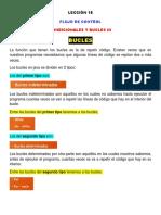 Lección 18 (Definición de Bucles, Tipos de Bucles, Bucle While)