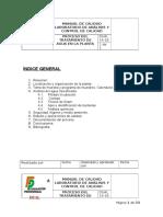 Manual de Calidad Laboratorio de Análisis y Control de Calidad Hoja Matriz Proyecto