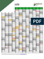 Calendario 2017 Maranhão