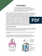 Calorímetros y Pirometros