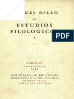 Estuios _filologicos de Andrés Bello