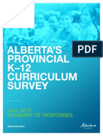 Provincial survey on Alberta curriculum