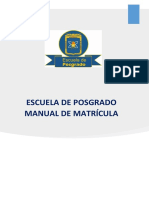Manual Sistema de Matricula Posgrado 1