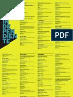 Feria La Independiente 2017 Programación completa