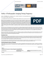 Safety of Radiographic Imaging During Pregnancy - American Family Physician