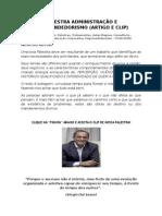 artigo PALESTRA ADMINISTRAÇÃO E EMPREENDEDORISMO (artigo e clip)