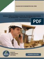 Manual Para La Formulación Del Programa Multianual de Inversiones - PMI