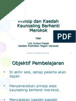 Prinsip Dan Kaedah Kaunseling Berhenti Merokok (Taklimat Berhenti Merokok 17 Jul 2010)