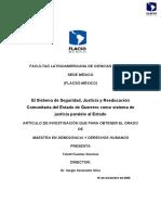 Yolotli Fuentes Sánchez - El Sistema de Seguridad, Justicia y Reeducación Comunitaria Del Estado de Guerrero Como Sistema de Justicia Paralelo Al Estado