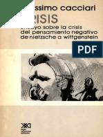 - Krisis. Ensayo Sobre La Crisis Del Pensamiento Negativo de Nietzsche a Wittgenstein