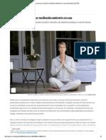 Seis Pasos Para Practicar Meditación Antiestrés en Casa
