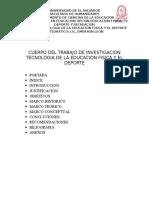 Cuerpo Del Trabajo de Investigacion Tecnologia