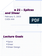 Splice and Shear